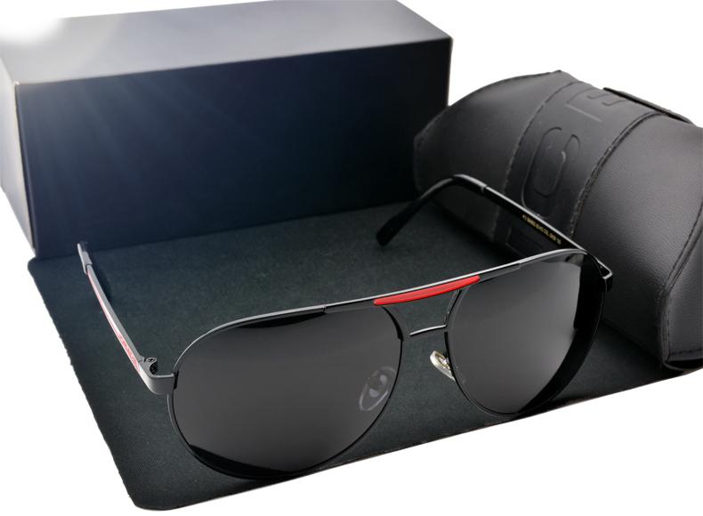 High Quality Brand logo Designer Sunglasses Cool Polarized Sports Men Sunglasses UV Protect Sun Glasses with free original Box(China (Mainland))