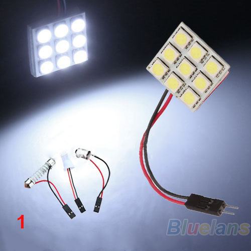 9 12 15 20 24 48 LED 5050 SMD Car Interior Reading Doom Light Panel T10