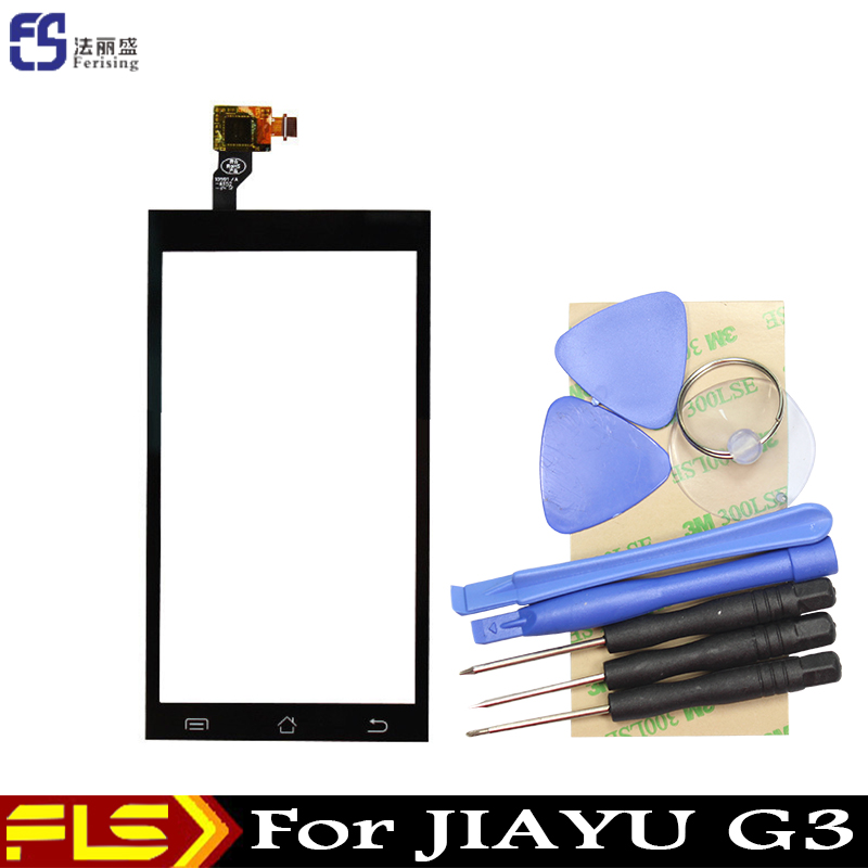 In Stock Original Touch Screen For JIAYU G3 G3S G3T G3C sensor digitizer Replacement Assemble + free tools + 3M Sticker