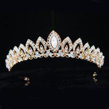 3 Designs Gorgeous Silver Crystal Bridal Tiara Crown Bride Headbands Women Prom Hair Ornaments Wedding Hair Jewelry Accessories(China)