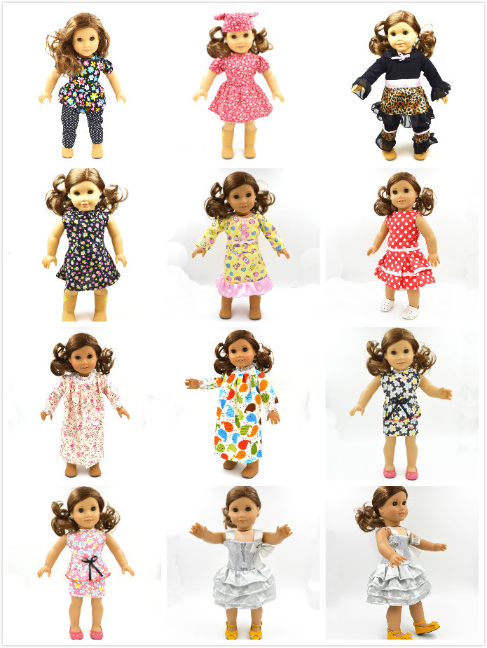 """Free shipping !! 2015 hot popular new style 18 """"American Girl doll Pattern clothes Skirt / clothing(China (Mainland))"""