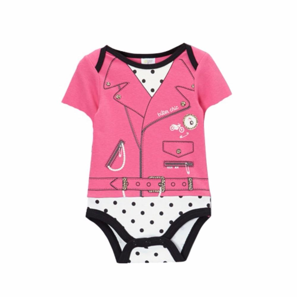 Bebek Kız Erkek Yaz Avrupa Yaz Bebek Leopar Baskı Kısa Kollu Tulum 4-12 M