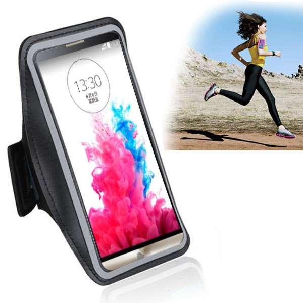 Fashion Waterproof Leather Sports Running Armband Phone Case Belt Wrist Strap GYM Arm Band For LG G3 D855 D850 F400 VS985 LS990