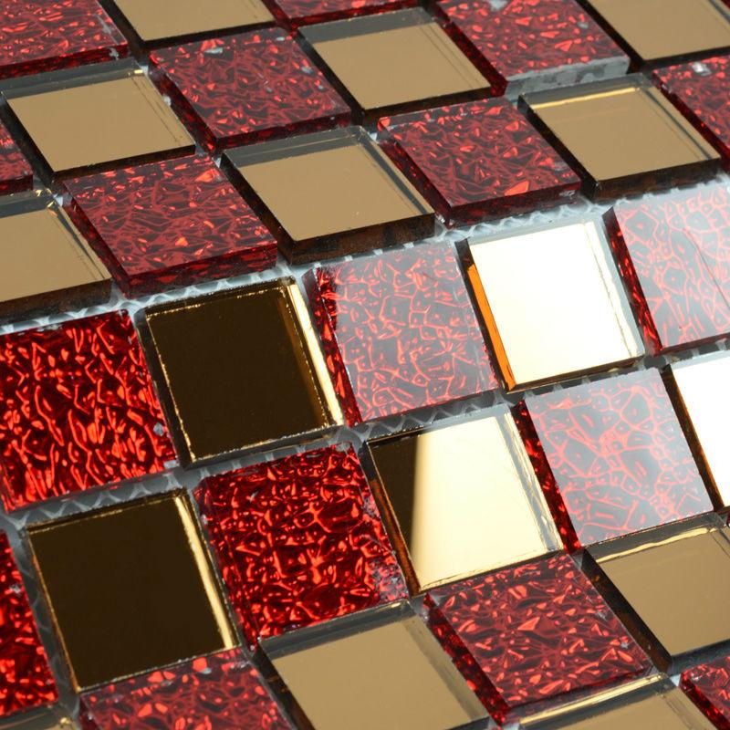 Mirror Tile Backsplash Kitchen Red Glass Mosaic Tile Clear