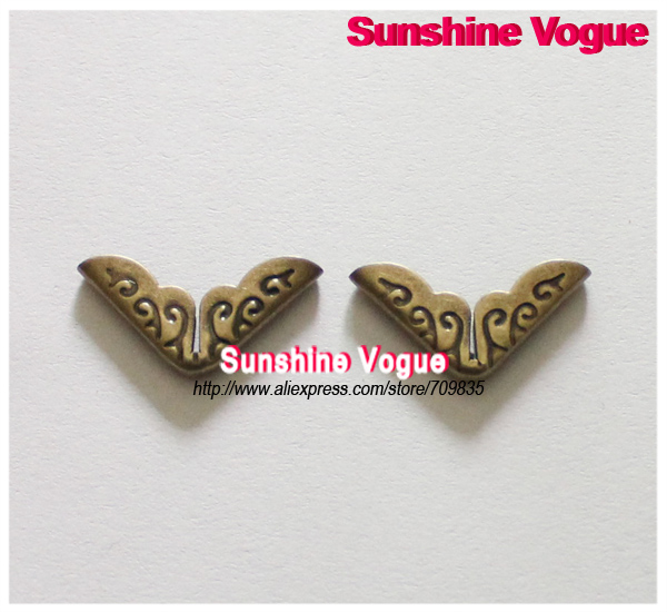 Bronze angle cover, DIY shirt collar angle, 14mm Antique style 100pcs/lot, collar/ book/ angle accessories, free shipping(China (Mainland))