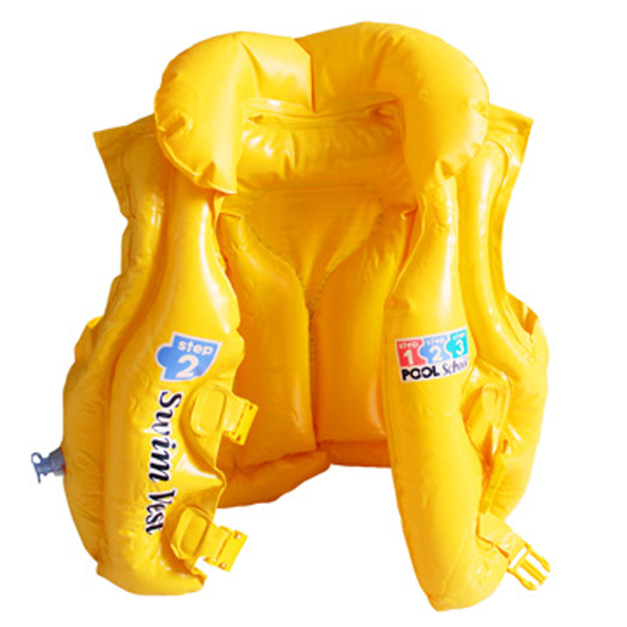 0.25MM Thickness Eco-Friendly 3 Size Children Kids Babys Inflatable Life Vest Swiwmsuit Child Swimming Safety Vest For Drifting(China (Mainland))