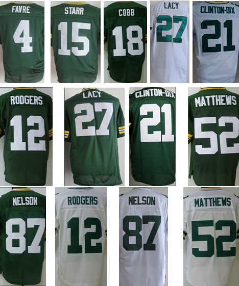 Free shipping packers 12 Aaron Rodgers Jersey, green bay elite Jersey Eddie Lacy Clinton-Dix clay matthews jordy nelson Jersey(China (Mainland))