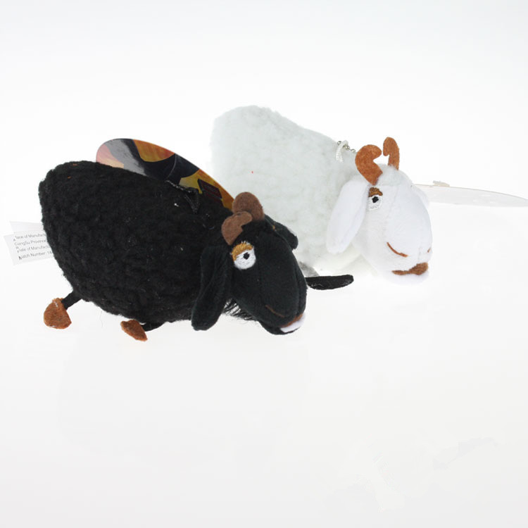 2X how to train your dragon 4inch White & Black Sheep Stuffed Animal Plush Toy(China (Mainland))