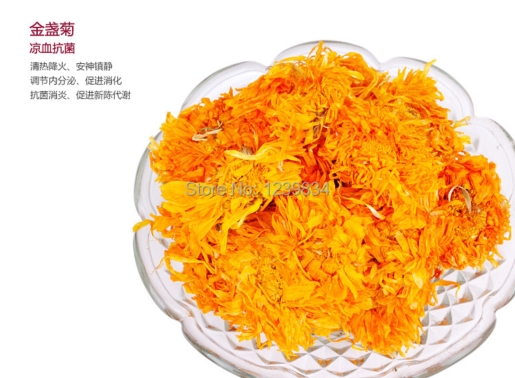 50g Marigold flower tea,Chrysanthemum Tea,Good for Health Help Lower Blood Pressure, Slimming Beauty,Free Shipping(China (Mainland))