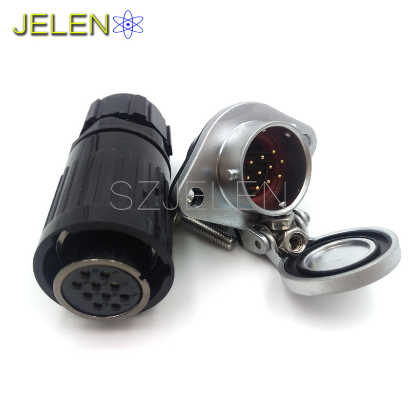 WP20,10 pin plug (female) , 10 pin socket(male),automotive electrical wire connectors,LED connector 10 pin. Rated current 5A(China (Mainland))