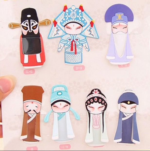 DIY Cute china traditional Chinese opera characters Paper Bookmark Book Paper Gift Stationery Free shipping(China (Mainland))