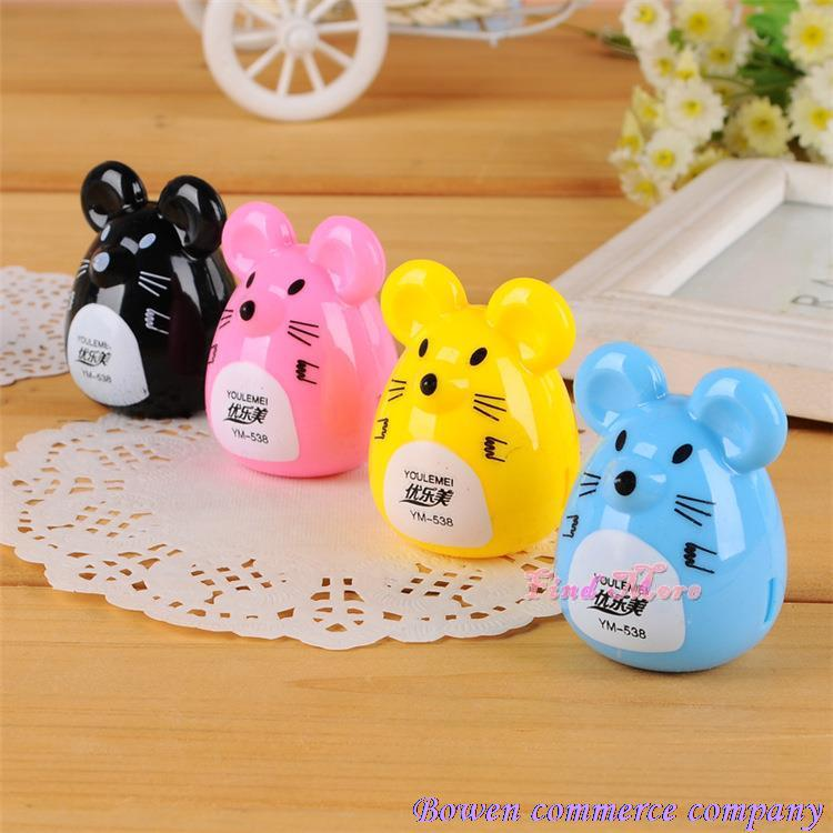 product 2015 Top Fashion Rushed Articulos De Papeleria C373 Korea for Creative Stationery Cute Cartoon Mouse Pencil for Sharpener Sliced