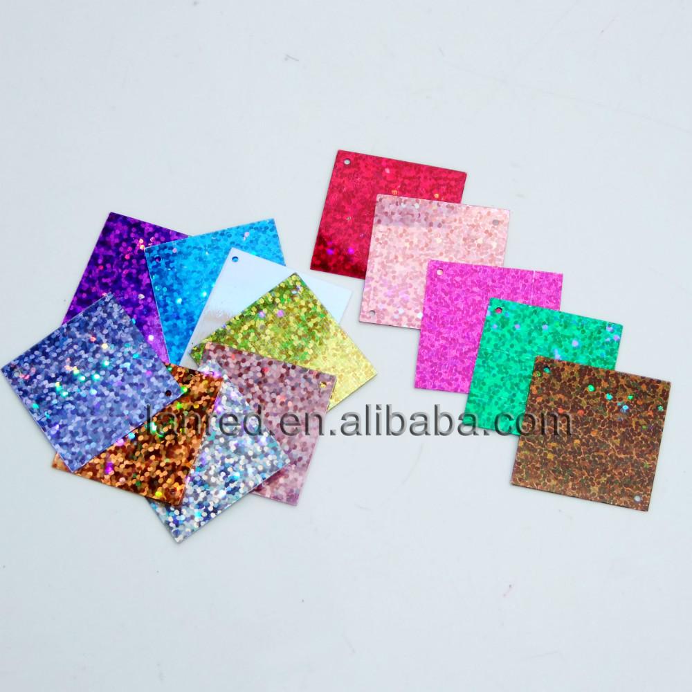 20Laser Bright Square Shapes Paillettes Sequins 30mm 2 Hole Clothes Accessory .SE-18 - L & D Crafts Firm store