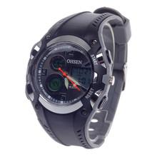 Ohsen AD1309 moda multifunción analógico + Digital Display 30 m reloj impermeable del deporte Color negro gris CR-2025 batería