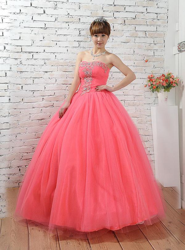 2015 new Korean version evening dress singing performances bridal gown performances dress tutu dress vestido de festa AZP085(China (Mainland))