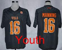 New Tennessee Volunteers Jerseys 16 Peyton Manning Jersey Football College Shirt Men Youth Kids Yellow Black White Univers(China (Mainland))