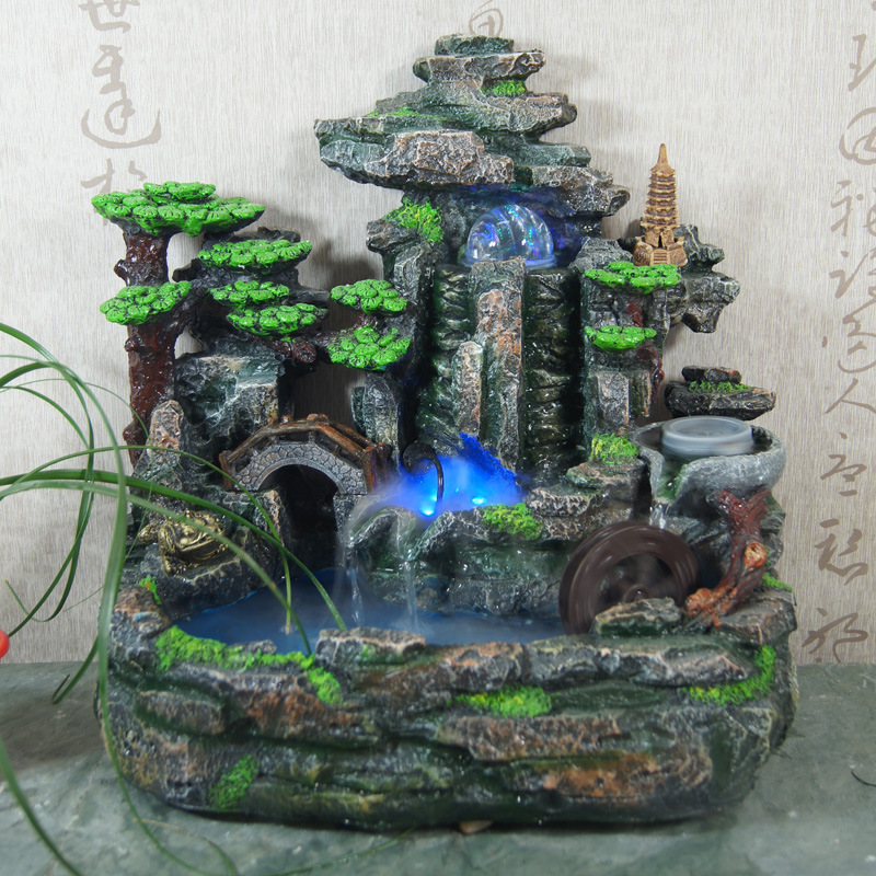 Rockery decorative indoor water fountains humidifier home for Fuentes decorativas para interiores