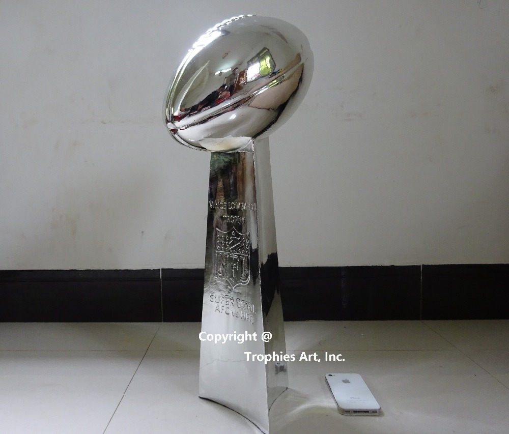 Vince Lombardi Trophy Super Bowl Trophy 22 Inches High Weight 7 Pounds 1:1 Full Size(China (Mainland))