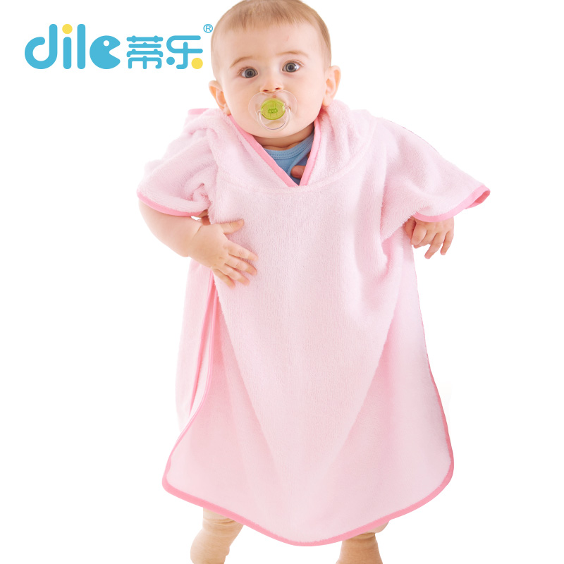 childrens bathrobe Retail! Baby pc 1 boy / girl soft bamboo robe pajamas coral children dress baby clothes<br><br>Aliexpress