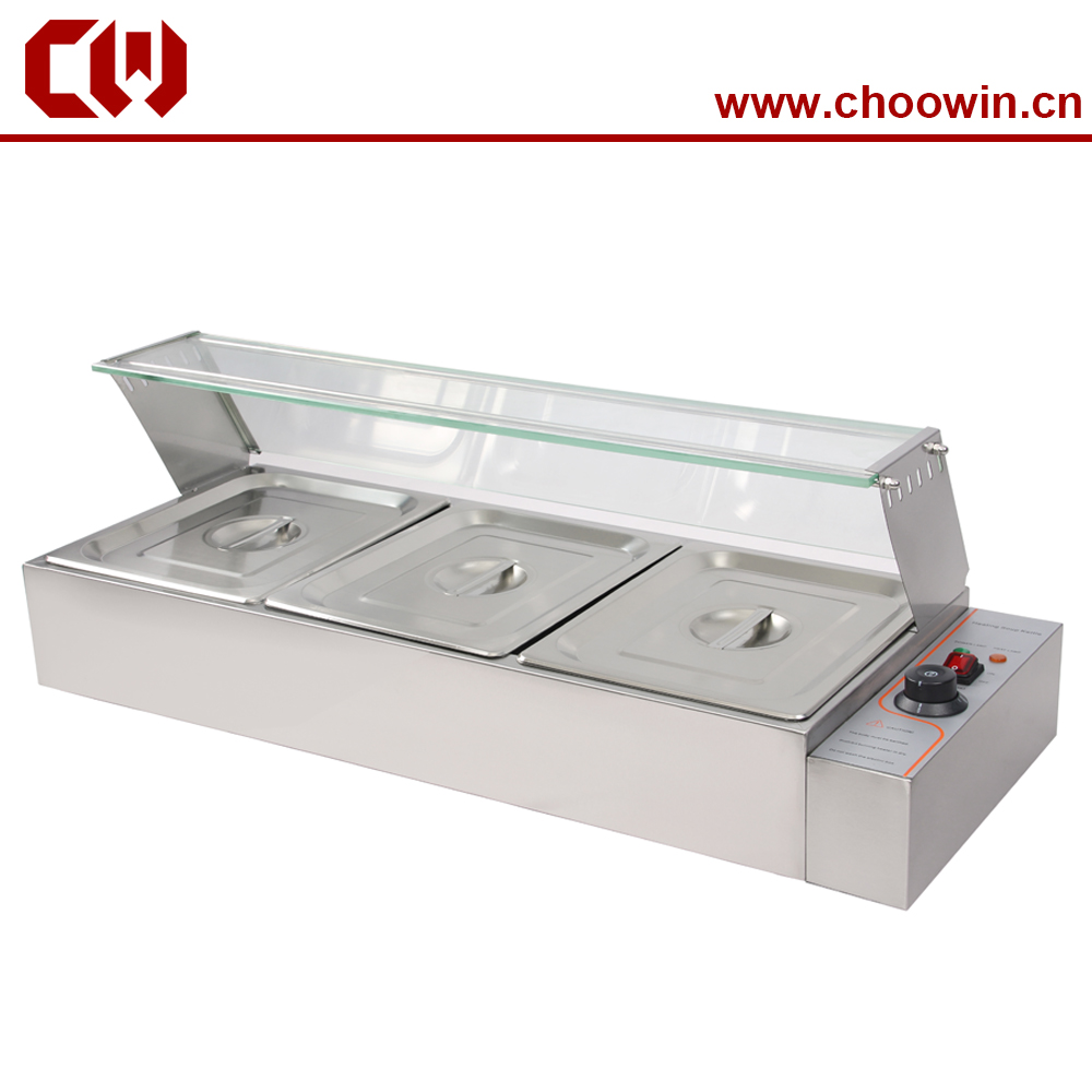 Gn 1 2 pans 3 4 5 pans bain marie food warmer in for Cuisson four bain marie