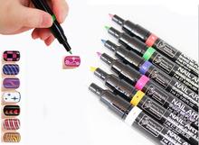 16 Colors Colorful Cheap Nail Art Pen Polish UV Gel Art Design Drawing Tool Set(China (Mainland))