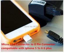 Микро USB синхронизации данных зарядный разъем для 8 контакт. конвертер кабель зарядное устройство для iPhone 6 плюс 5 5S 5с ipad мини воздуха ipod touch