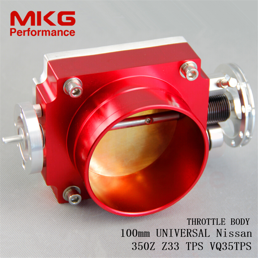 """Universal 4"""" 100mm Throttle Body for N issan VQ35 350Z Z33 TPS red(China (Mainland))"""