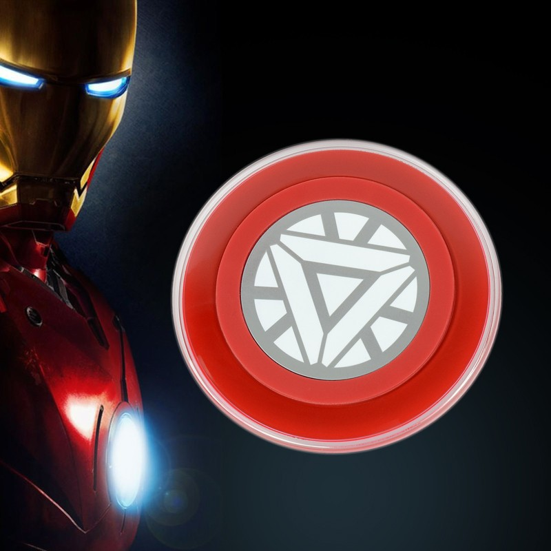 Iron Man Version 100% universal charging Qi Wireless Charger Pad for Nexus 5 7 Nokia 920 galaxy S6 S5 Note 4 3 iphone 6 plus 5s(China (Mainland))