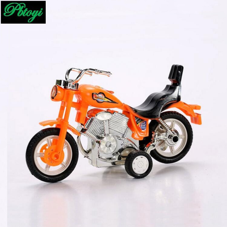 Pull back motorcycle three colors can choose free shipping small car motorcycle toy collection PE0454(China (Mainland))