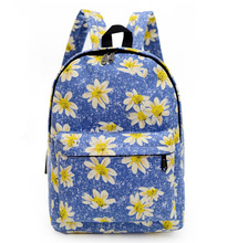 2016 Women Printing Backpack Canvas Flowers Animal Shoulder School Bag For Teenagers Girls Travel Sports Bags Bolsas Mochilas(China (Mainland))