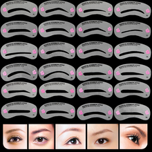 24 Pcs Pro Reusable Eyebrow Stencil Set Eye Brow DIY Drawing Guide Styling Shaping Grooming Template Card Easy Makeup Beauty Kit