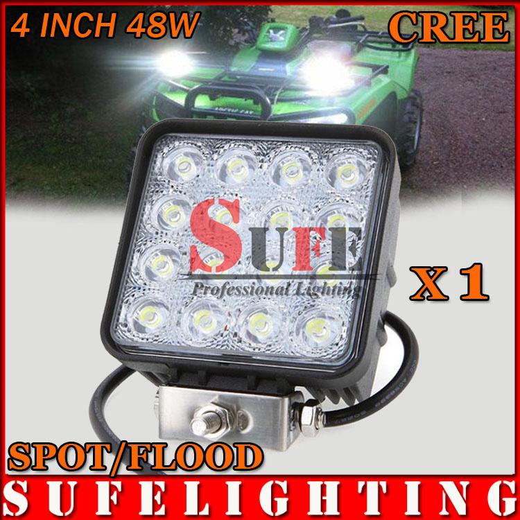 US Stock 1PCS 48W Led Work Light Flood 4WD 4x4 Offroad Fog Driving Lamp Truck Boat Marine Bus 12V 24V IP67 27W 60W(China (Mainland))