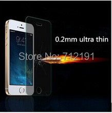 0.2mm Ultra Thin Premium Tempered /Anti-Shatter Glass Film Screen Protector for iPhone 5 5S 5C(China (Mainland))