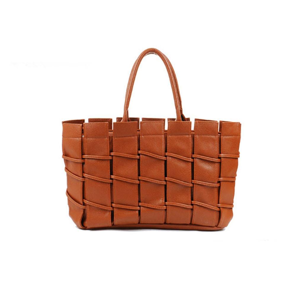 Free Shipping 2016 New Hot Women Fashion Luxury Vintage Shoulder Handbag Knitted Women Leather High Quality Korea Style Bag(China (Mainland))