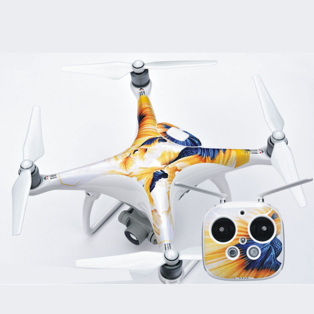 Waterproof PVC Skin Decal Sticker For DJI Phantom 4 Quadcopter Shell + Controller Accessory Different Pattern Rc Accessories