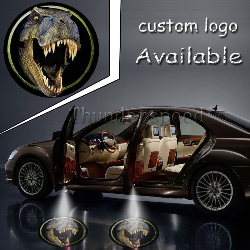 2x Pair Jurassic Park World Dinosaurs Tyrannosaurus 2nd Gen Car Truck Door Gobo LED Projector Shadow Logo Light #1380*4(China (Mainland))