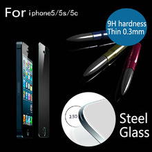 Retail Packaging 0.3mm 2.5D H9 HD Cellphone Toughened glass armoured film ,Steel film,Screen Protector,SE protective Glass Film