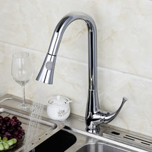 Buy Newly Pull Polished Chrome Finished Deck Mounted Single Handle Faucet Kitchen Tap Mixer for $77.92 in AliExpress store