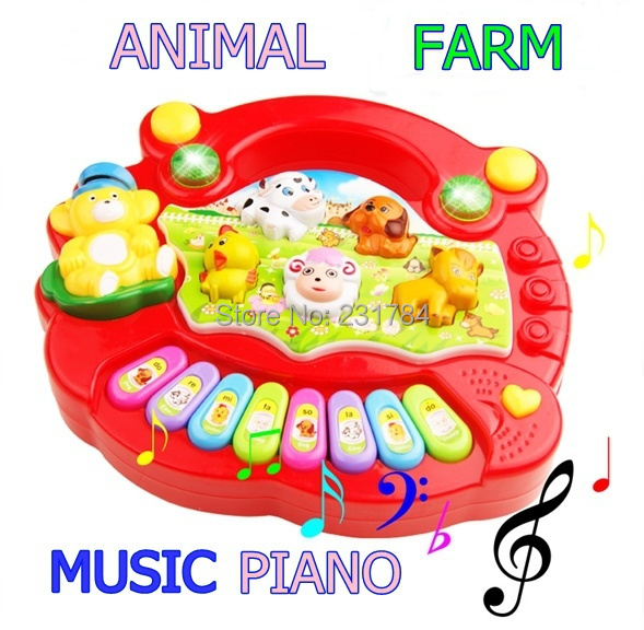 toys for children music piano animal farm musical toys enlightenment education baby toy kid toy flash music electronic organ(China (Mainland))
