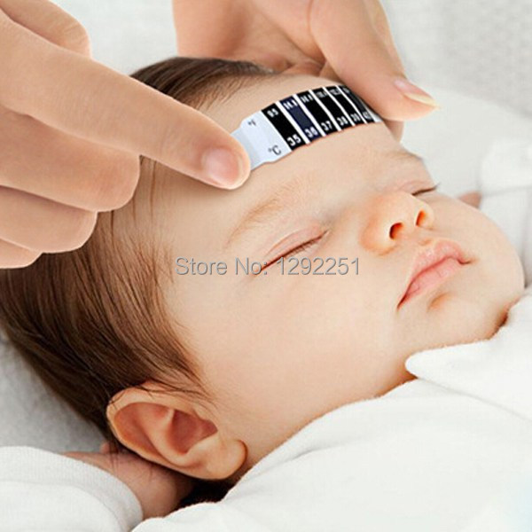 1PCS Forehead Head Strip Thermometer Fever Children Body Baby Child Kid Test Sticker Temperature Free Shipping q6XE(China (Mainland))