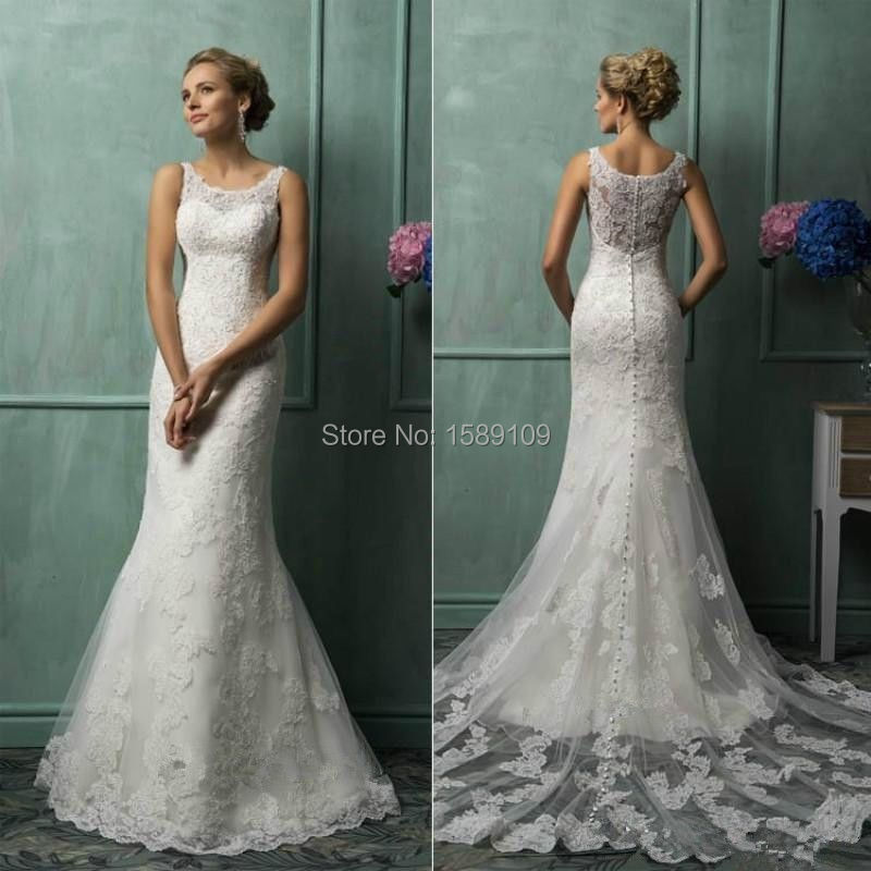 lace wedding dress 2015 court train mermaid bridal gown bride dresses