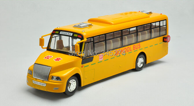 23CM Emulational Electric Alloy Diecast Models Car Toys Classic School Bus Brinquedos Miniature sound voice Car Doors Openable(China (Mainland))