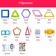 100-298pcs Blocks Magnetic Designer Construction Set Model & Building Toy Plastic Magnetic Blocks Educational Toys For Kids Gift(China)