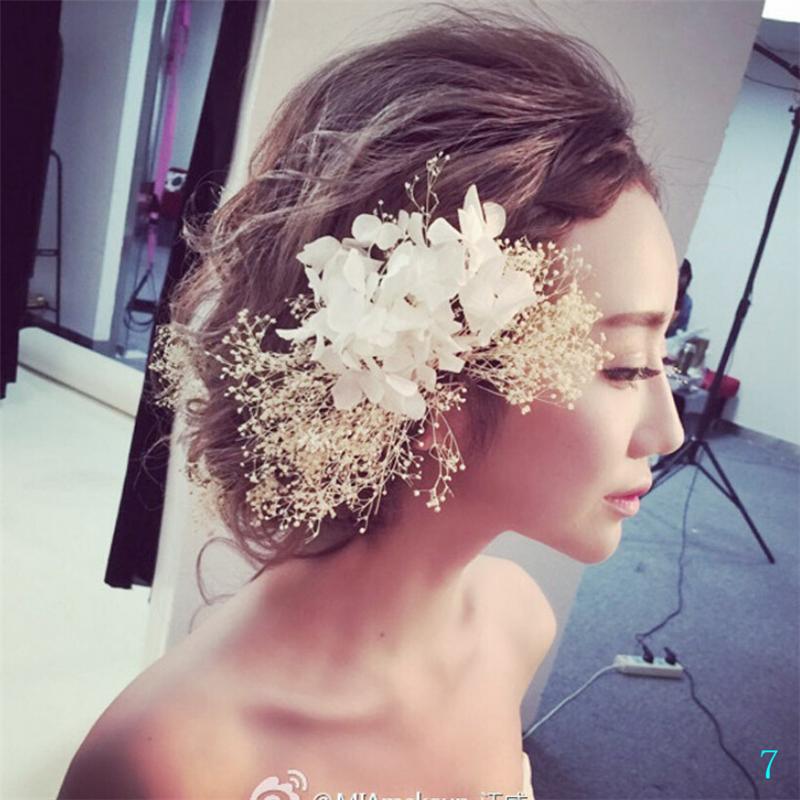 2017 Artificail Wedding Bridal Flower Hat Women Fascinator Girl Head Wreath for Wedding Accessories