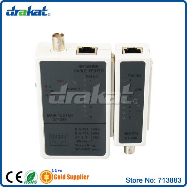 Network Cable Tester RJ45 BNC connector(China (Mainland))