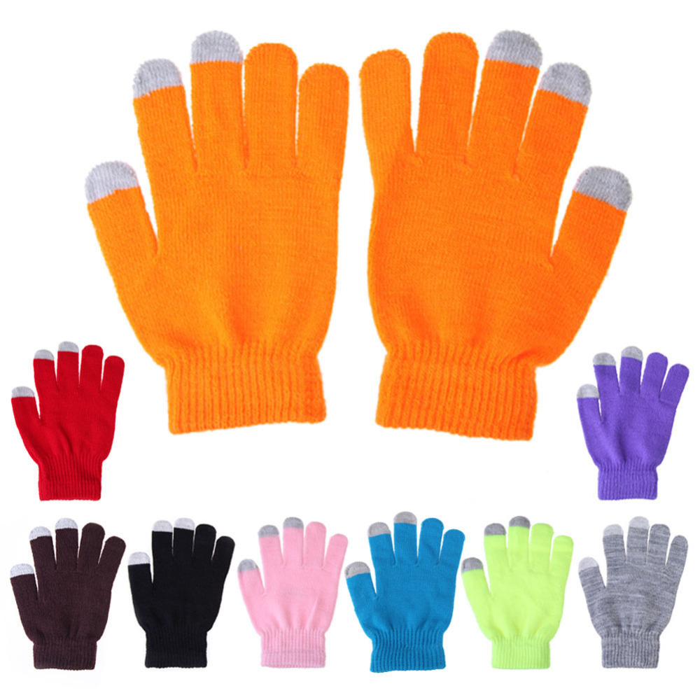 Women Men Touch Screen Soft Cotton Winter Gloves Warmer Smart For All phones Several Colors Free