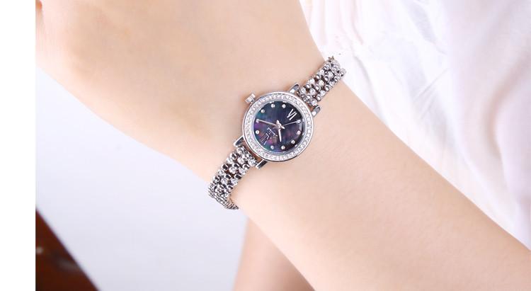 Юлий леди женщина до запястья часы кварцевый часов лучший платье корейский браслет офис раковина сталь бизнес девочка подарок 710