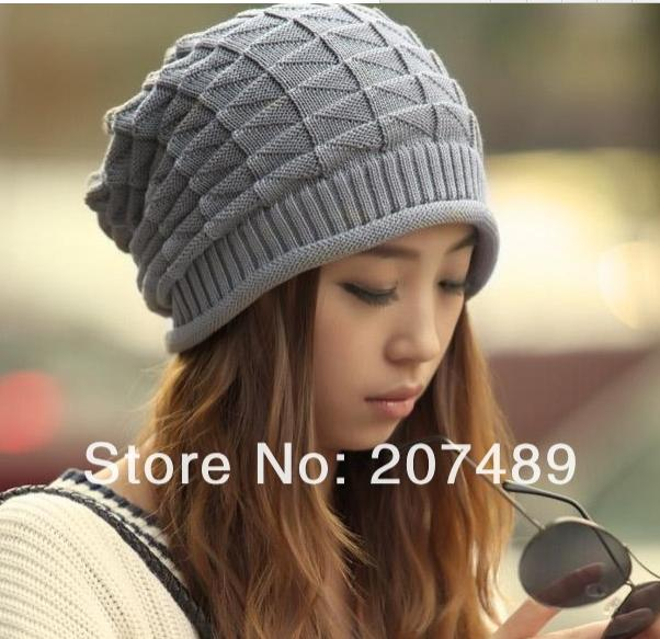 ladies's men's fashion check ear protect knitted hat Beanies Cap Autumn Spring Winter multi color option whcn+(China (Mainland))