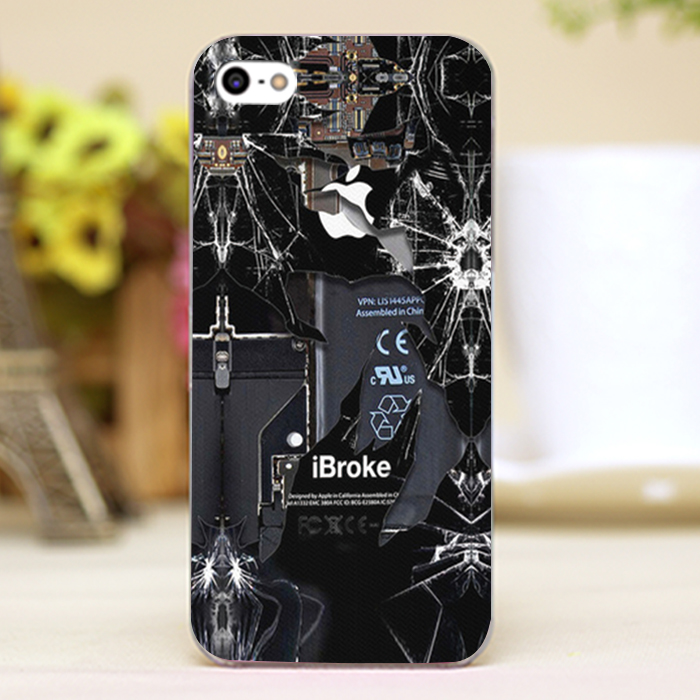 Broken rupture damaged Design Customized transparent font b case b font cover cell font b mobile