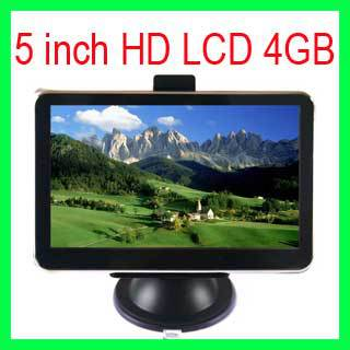 "5"" HD Car GPS Navigation system 4GB MP3/4 FM CE6.0 +new Map GPS Receiver 128M DDR Touch Scree(China (Mainland))"